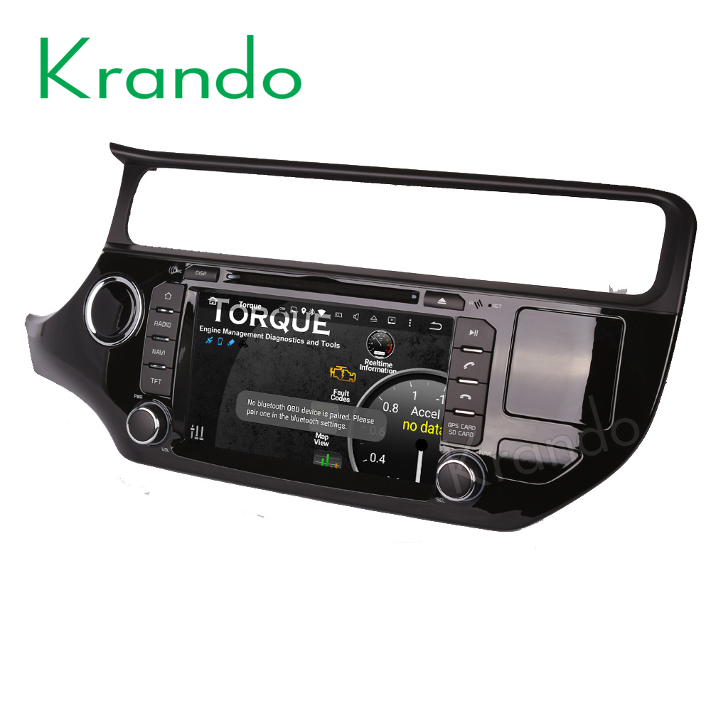 "Krando Android 7.1 8"" 2G+16G car pc multimedia player for kia k3 rio 2015+ car audio radio navigation with gps system KD-KR815L"