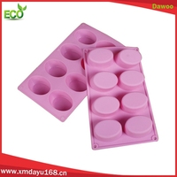 Wholesale 10 cavity oval shape custom silicone soap molds
