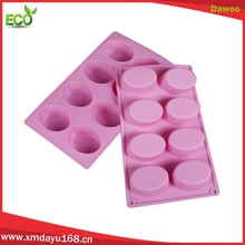 Wholesale 8 cavity oval shape custom silicone soap molds