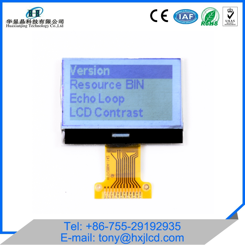 Small 128x64 COG Graphic LCD Module With White Backlight