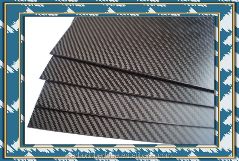 CNC cut semi-glossy finish 3k CFRP sheet, carbon fiber parts for RC multicopter, submarine, plane, car frame