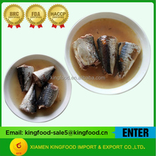 Chinese Canned Mackerel In Brine Water
