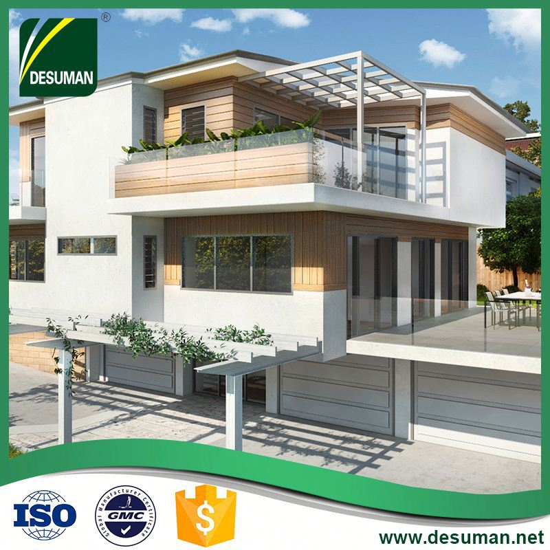 DESUMAN wholesale leisure style environment protection steel frame prefab villa with equipment