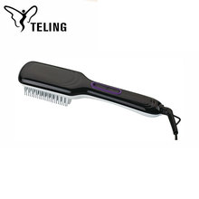 New design manufacturer electric mini hair straightener brush