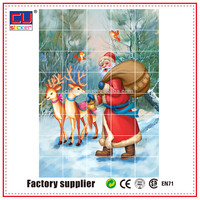 Shop & hotel glass door decor static cling santa claus sticker