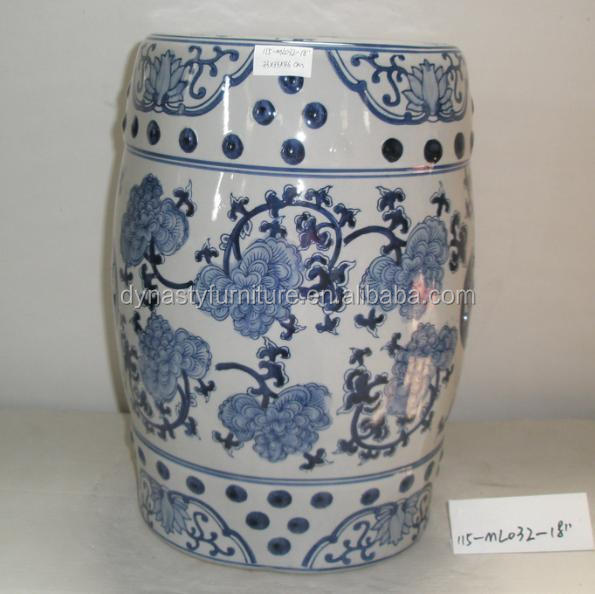 Chinese Garden Indoor Decoration Pieces Ceramic Drum Stool