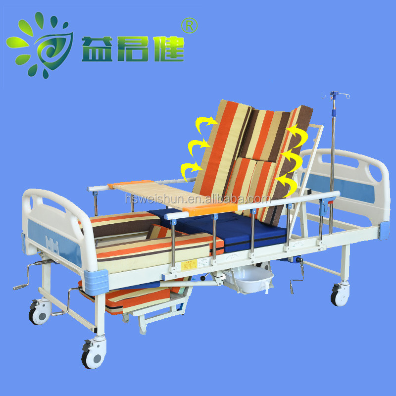 Cheap multi-function sickbed medical care hospital bed furniture manual (MB - 01)