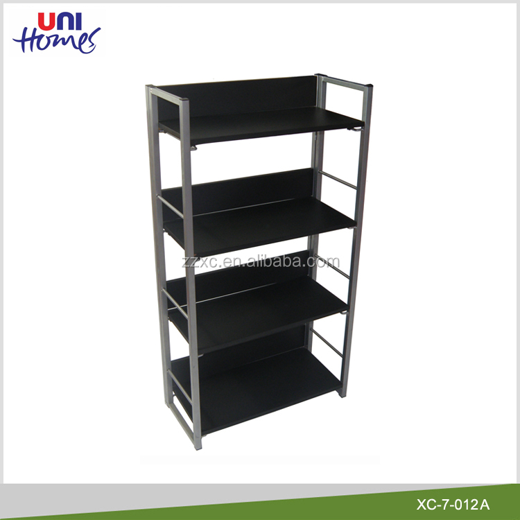 4 Tiers Wooden Bookrack With Metal Frame