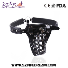 Adjustable male slave costumes chastity panties penis bondage leather harness bdsm men sex products