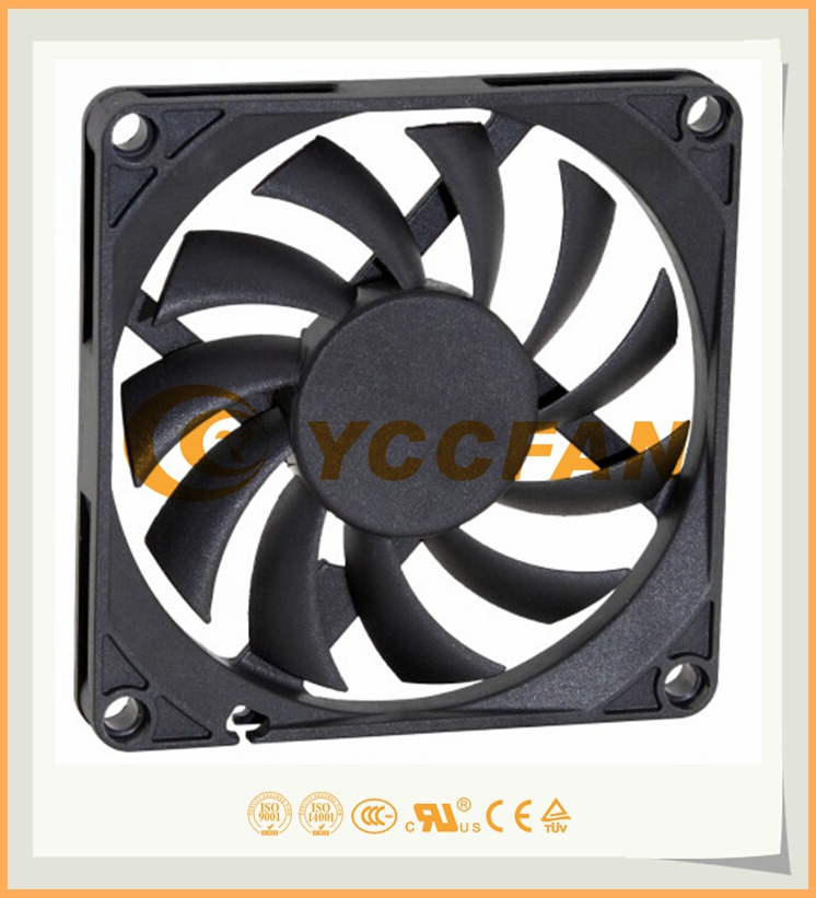 UL RoHS CE approved 80*80*25MM DC 12V 24v brushless mini axial cooling fan for green house