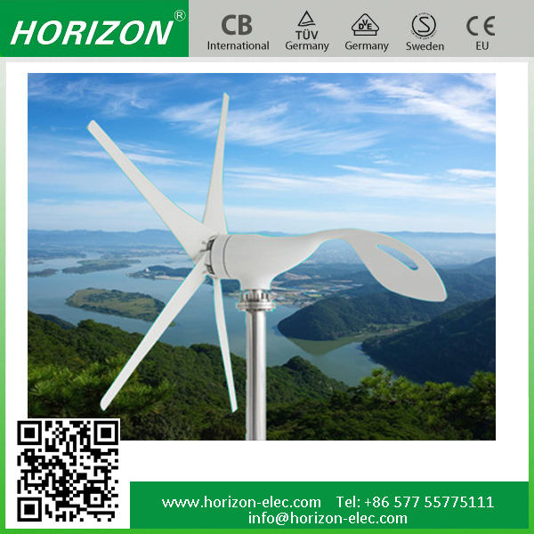 New energy 100W horizontal axis wind turbine price small wind turbine water heating system max power 130W 12/24VDC