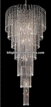 Modern chain hanging crystal wedding decorations