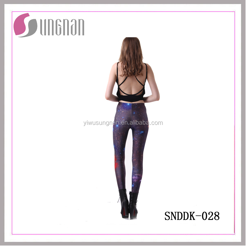SUNGNAN Custom polyester double brushed printed leggings