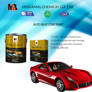 Fast dry black metallic car paint