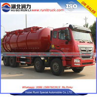 New Design High Pressure Water Jet Sewer Cleaning Trucks 16Tons Jet Vacuum Truck With 20000Liters Stainless Steel Tank