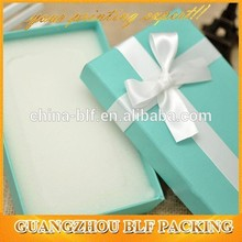Special paper Gift packaging box with Bowknot ribbon