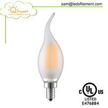 Glass Cover Edison Candle Bulb CA35 COB 4W LED Filament Bulb Dimmable Candle Light with CE,RoHS,UL