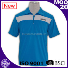 BSCI/ISo9001 2017 mens customized screen print CVC polo shirt