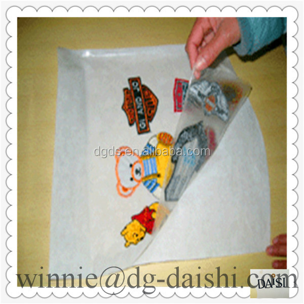 High quality PE film factory backing glue with release paper for embroidery patch for pakistan market