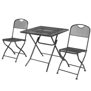 Cheap Metal Folding Square Table Bistro Set