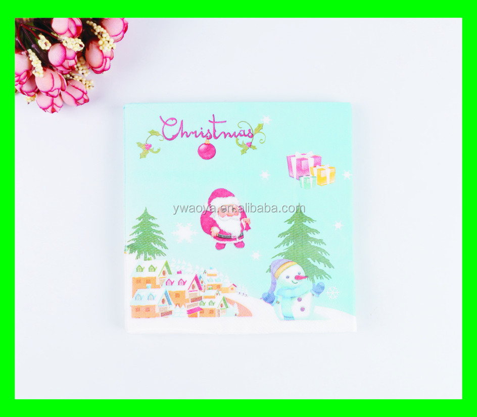 new design paper napkin for christmas