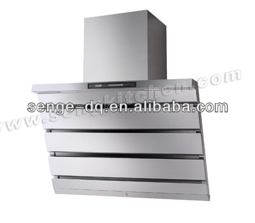 Side suction wall mounted stainless steel range hoods