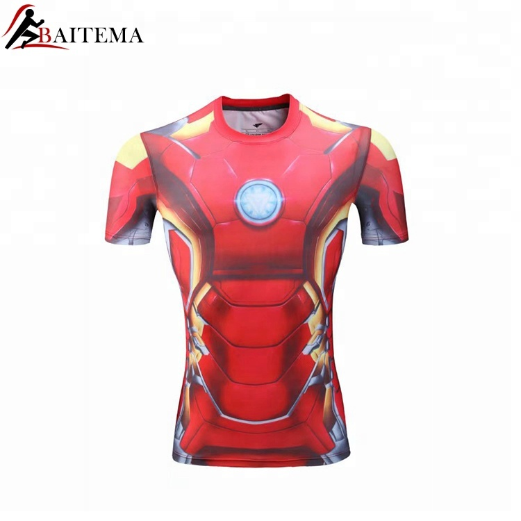 Customized <strong>Design</strong> 100% Polyester All Over Sportswear Running T-Shirt,Quick Dry Printed Tee Shirt,Sublimation T Shirt