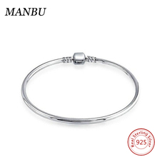 925 sterling silver solid bangle bracelet jewelry B503