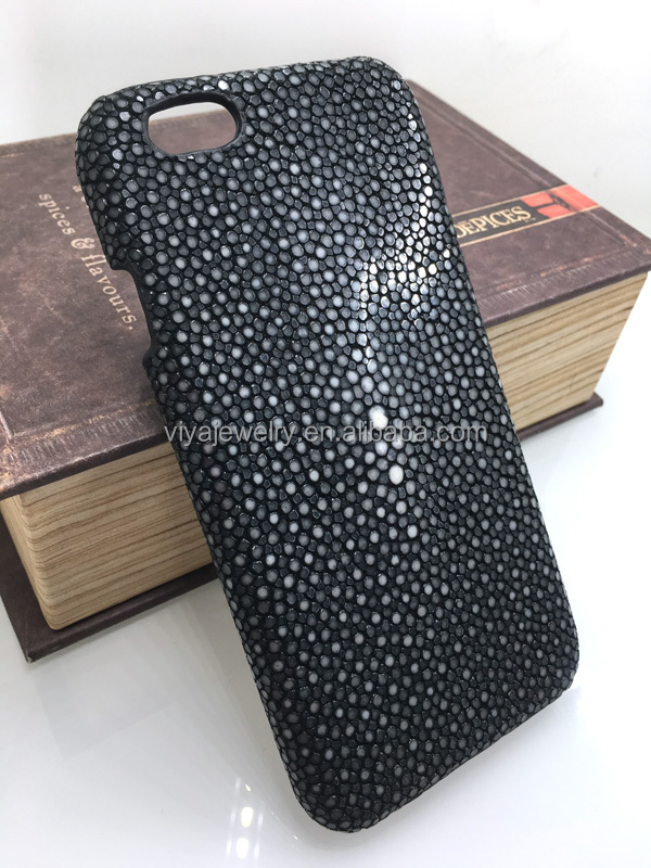 "High Quality Genuine Stingray Skin For Iphone 6 & 7"" Real Leather Mobile Phone Cover For Iphone 6 Case"