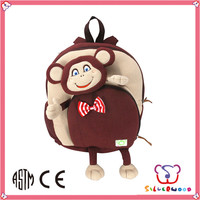 ICTI Factory super cute soft plush animal backpack for kids