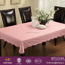 vinyl flannel back small checker table cloth