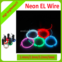 Cheap 2.3mm el wire/neon light wire/el cable with high brightness for decoration