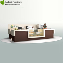 3D mall juice coffee ice cream kiosk design for sale