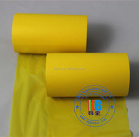 Clothing polyester care label printing yellow wash thermal tape
