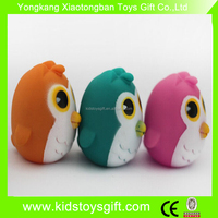 bulk mini rubber Owl /floating plastic animal toy