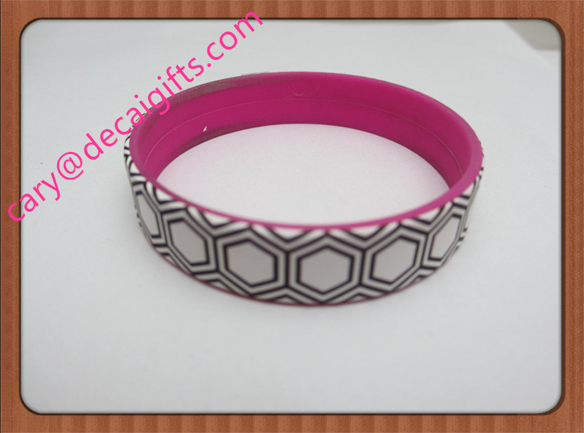 promotion military silicon wristbands with full color logo