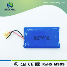 factory 3.7v 920mah soft flat lithium-ion lipo battery for wireless charger