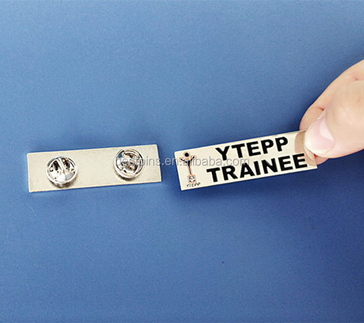 Rectangle Plating Lapel Pins China for YTEPP Trainee