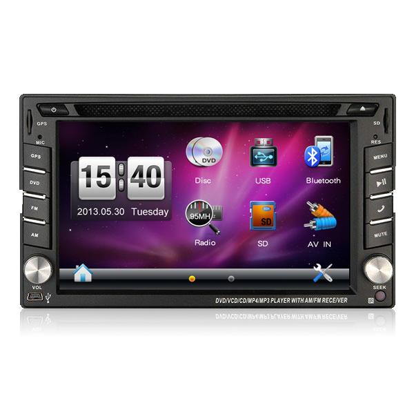 "6.2"" GPS Navigation HD Double 2 DIN Car Stereo DVD Player Bluetooth MP3 TV"