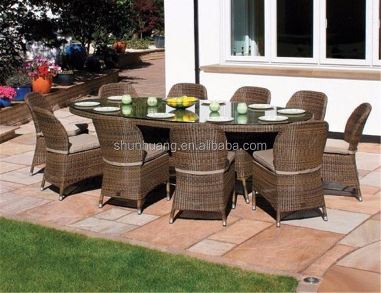 Hot sale Poly rattan chair Garden dining chair sets round table