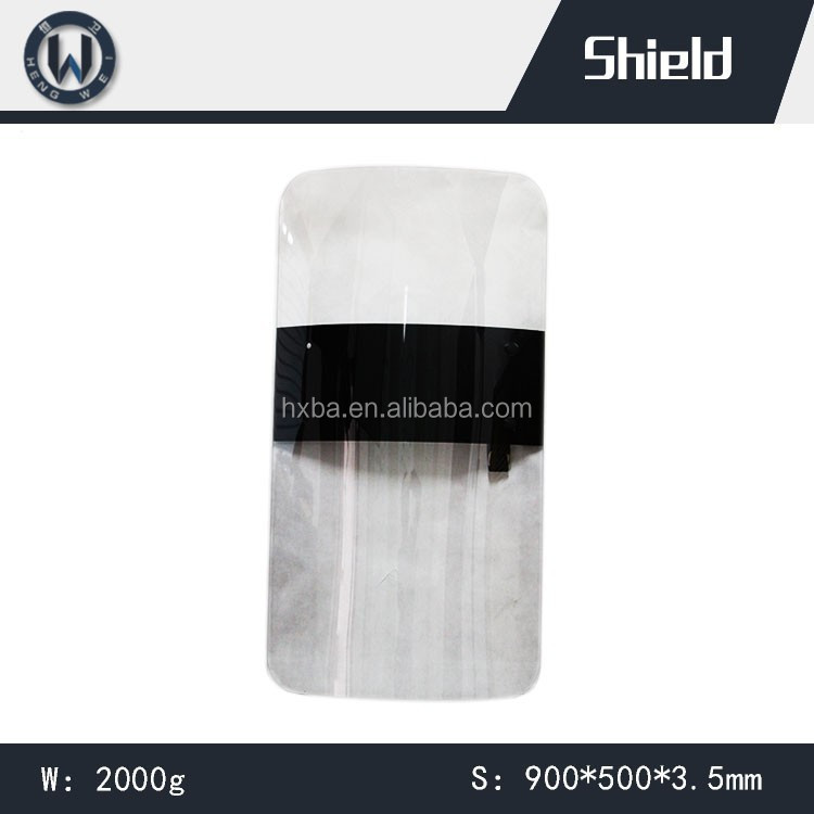 900*500*3mm/900*500*3.5mm Anti Riot Protective Shield/Transparent Polycarbonate Riot Shield