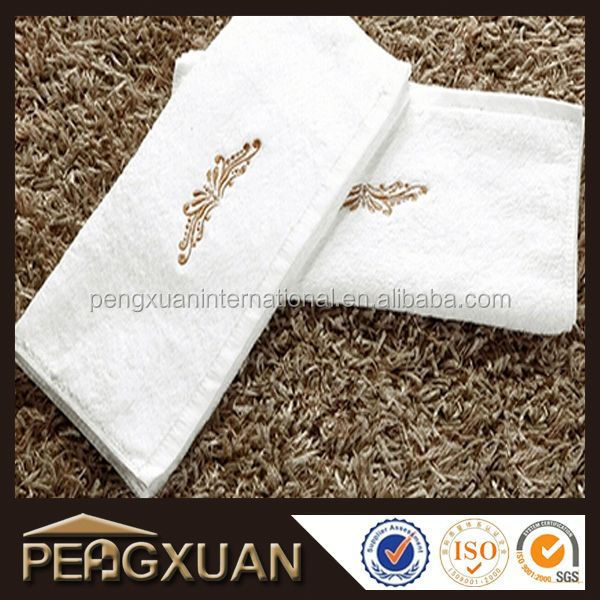 factory price soft luxury embroidered face towel for hotel