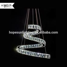 Top sell led industrial pendant lamp chain hanging chandelier