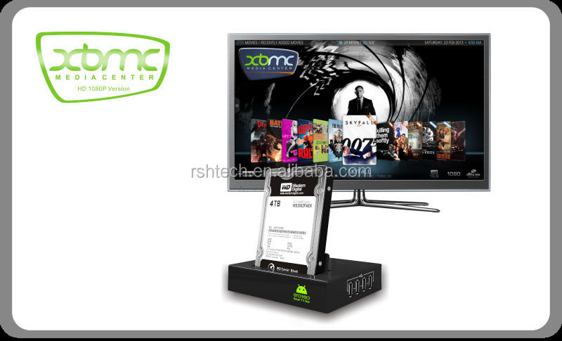 Dual core android tv box, Supports Google TV Market and Skype webcam chat,full HD 1080P media player IPTV smart tv box