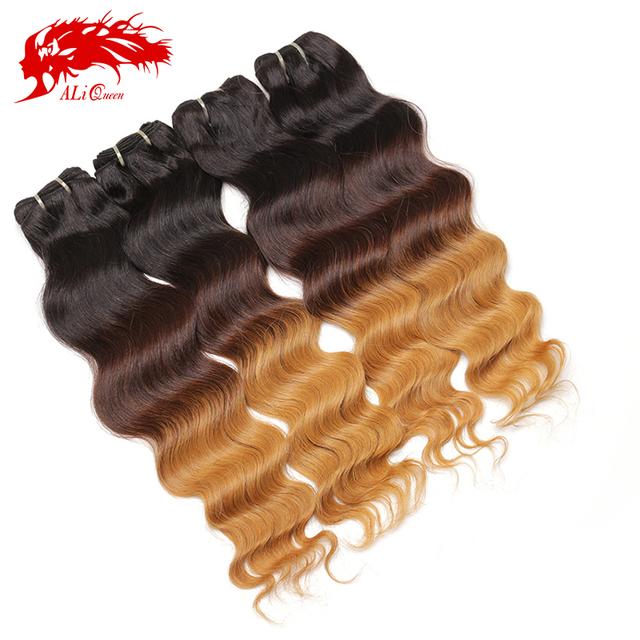 Grade 5a deep wave 100% peruvian three tone human hair weave