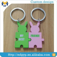 China cheap blank couple metal customized key chain