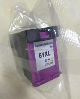 Compatible new refilling ink cartridge for HP 61 color inkjet printer from china supplier