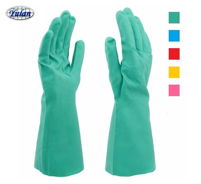 15 mil Green Nitrile industry <strong>Gloves</strong>