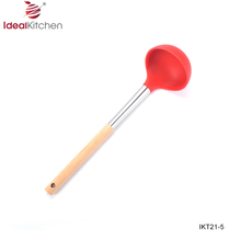 Silicone soup ladle food grade kitchenwares ladle tools