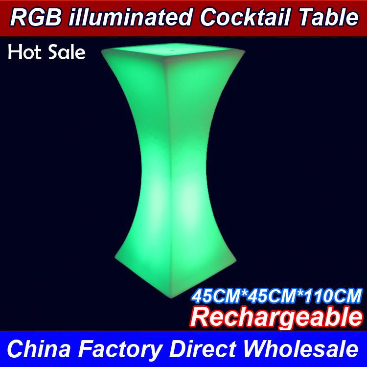 Factory Wholesale New Party Led Light Cocktail Table For Bar Outdoor top class quality